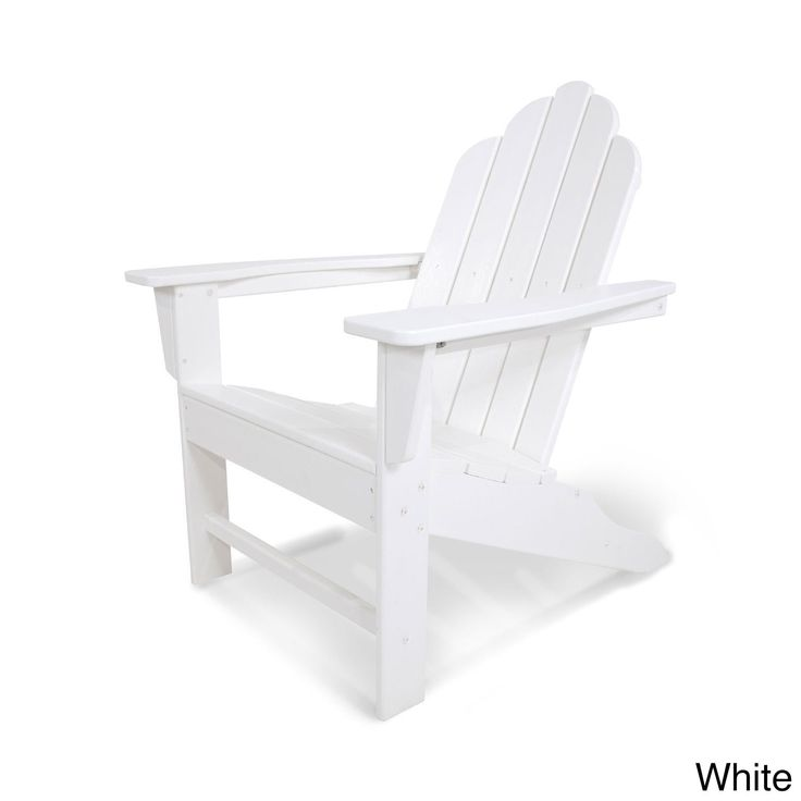 Long Island Polywood Adirondack Chair (White), Size Single, Patio Furniture  (Plastic