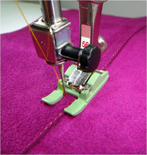 Tips for sewing with leather from WeAllSew. #SewingTip #leather