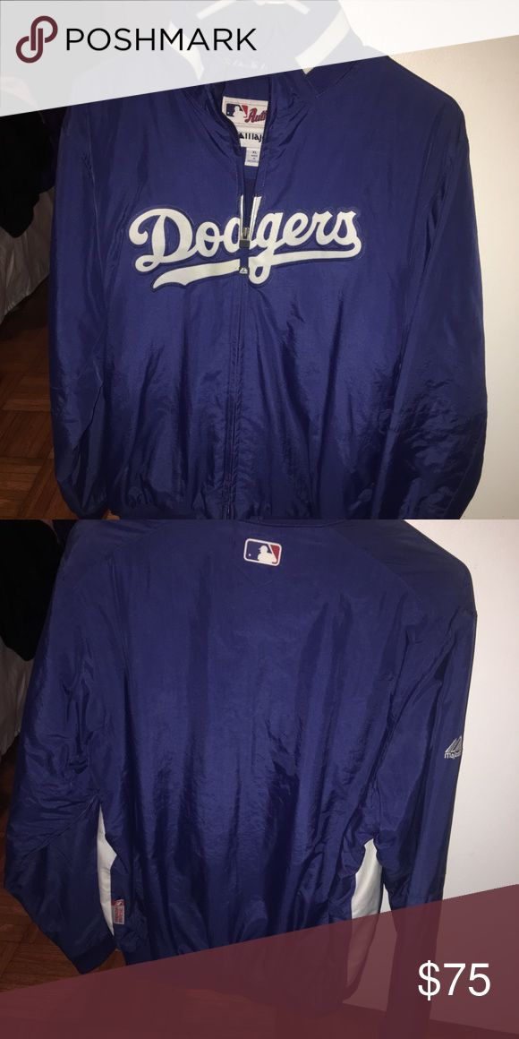 Authentic Dodgers Jacket Authentic Majestic Dodgers Jacket, worm maybe once if even that. Great condition and perfect for any Los Angeles Dodgers Fan!! Majestic Jackets & Coats Bomber & Varsity