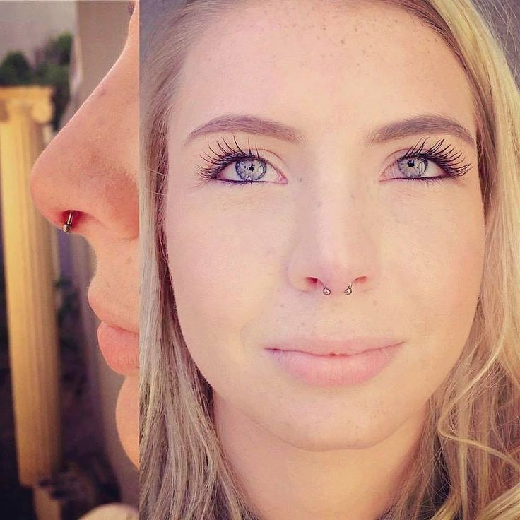 This lovely lady just got her septum pierced using Invictus's implant Grade…