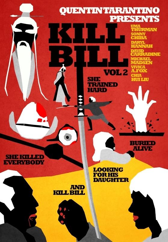 Posters de cinema minimalistas - Kill Bill vol 2