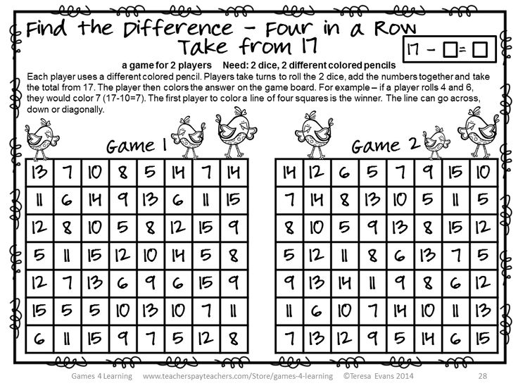 Common Worksheets » Find The Difference Maths - Preschool and ...