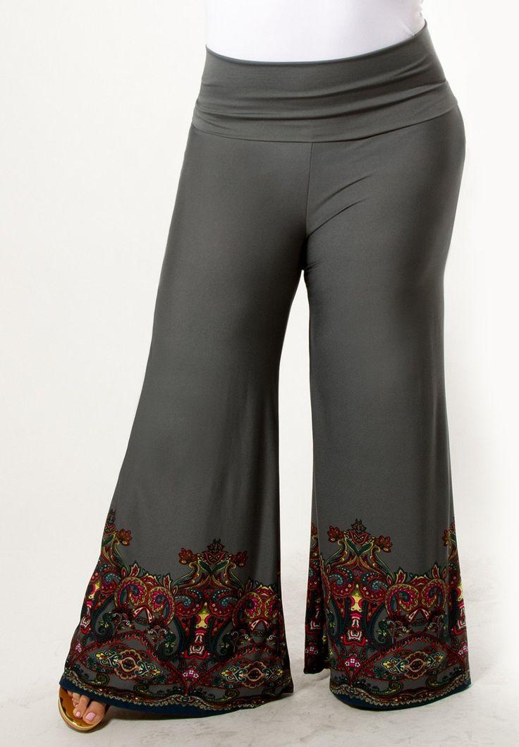 Women's Plus Size Pants | Gwen Palazzo Pants | SWAK Designs