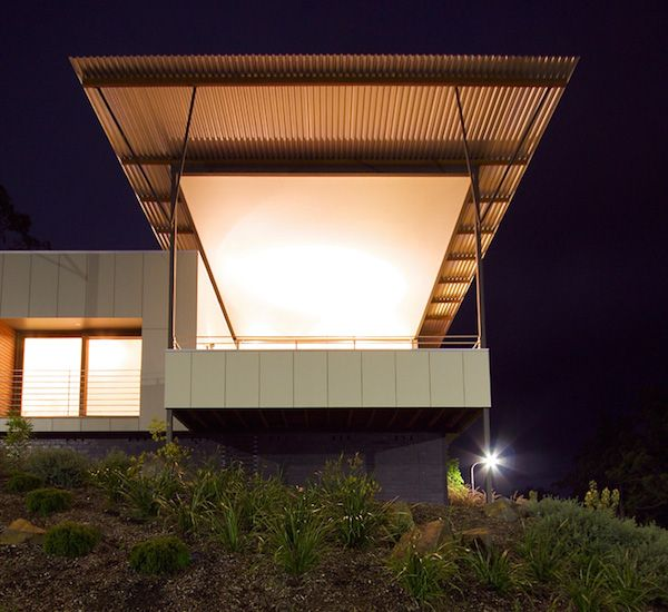 The Scyon™ Matrix™ cladding was used as a feature in this outdoor space. It was installed with a unique upwards slope which adds character to the living space.