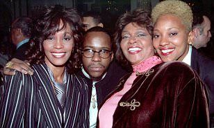 Whitney, Bobby Brown, Cissy Houston and  Robyn Crawford. 'Whitney would be alive today if Robyn was accepted': Bobby Brown claims Houston suffered when mom Cissy alienated the star from 'gay lover'. http://www.dailymail.co.uk/tvshowbiz/article-3631835/Bobby-Brown-claims-Whitney-Houston-suffered-mom-Cissy-alienated-star-gay-lover-Robyn-Crawford.html