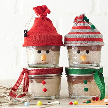 Layer the dry ingredients for these sweet bars in a jar then give to friends and family as a holiday gift.