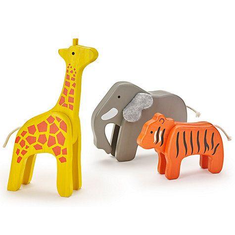 Buy John Lewis Wooden Animal Pack Online at johnlewis.com