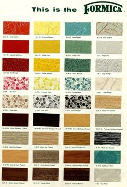 The History Of Formica Vintage Formica 174 Colors Patterns