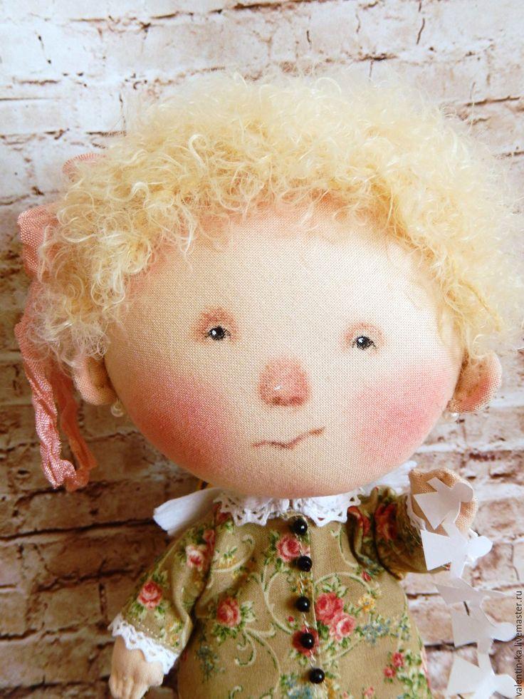 Купить Я НАУЧИЛАСЬ ДЕЛАТЬ ПРАЗДНИК кукла по картине Е. Гапчинской - комбинированный, текстильная кукла