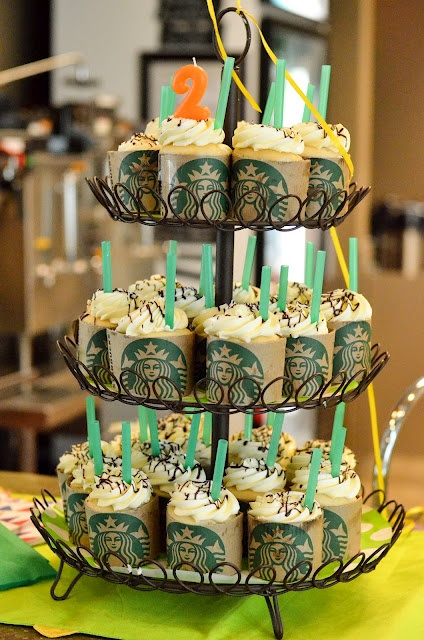 Starbucks cupcakes - - There is a #2 candle on top...?