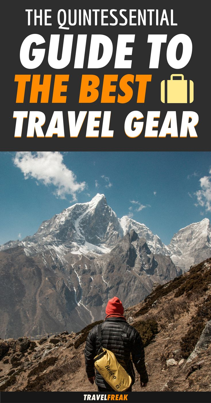It's taken me a few years to learn what the best travel gear is, mostly through trial and error. Check out this quintessential guide to the best travel products you should pack everytime you go on a trip. It includes the best travel backpacks, clothing and shoes, travel photography gear and the best electronics. | travel gear gadgets | travel gear for men accessories products | travel gear for men bags | best travel gear products #packingtips #traveltips - via @travelfreak_