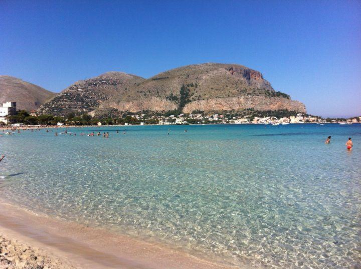 Spiaggia di Mondello in Palermo, Sicilia