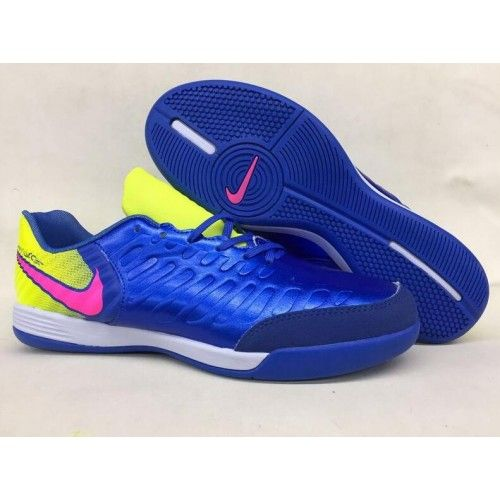 pretty nice d7281 b9ab6 Chaussure foot Nike Tiempo Legend VII Homme Bleu Jaune Rose soldes ...