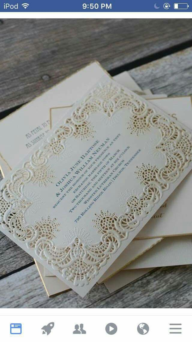 laser cut wedding invites canada%0A Give guests a glimpse of your radiant wedding style with this laser cut  wedding invitation from Invitations by Dawn featuring ornate patterns on  ecru
