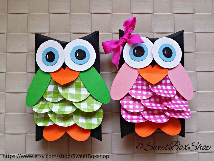 Owl Pillow favor box Gift box DIY Owl Pillow Boxes