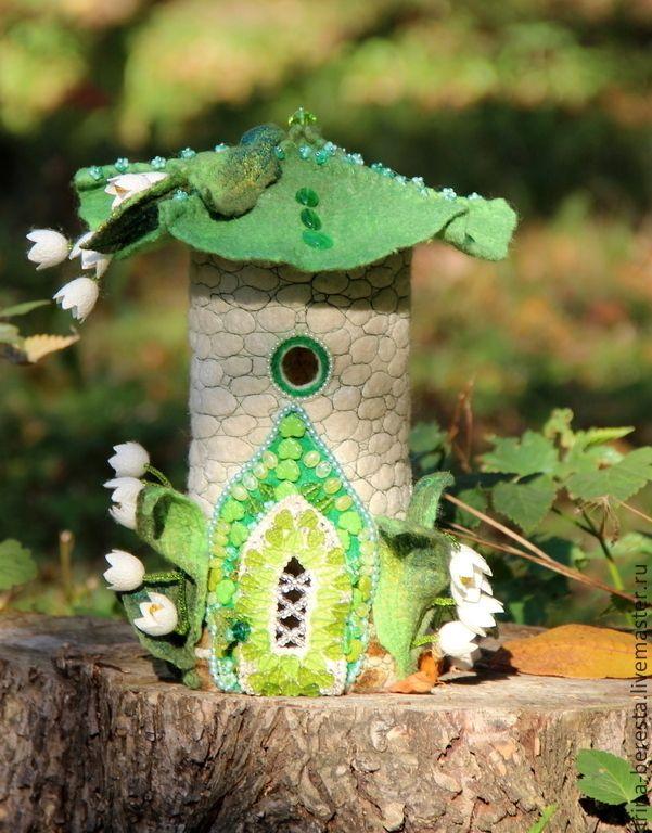 """Купить Светильник """"Домик лесной феи"""" - весна, ландыш, сказочный домик, светильник, детская комната"""