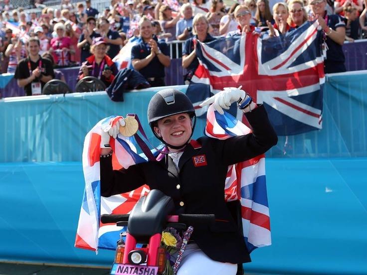 Double gold winner Natasha Baker - GOLD at Equestrian, Individual Freestyle Test - Grade II