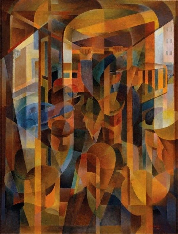 'Tram kaleidoscope' (1948) by Frank Hinder