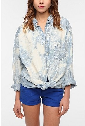 Urban Renewal Bleached Denim Top