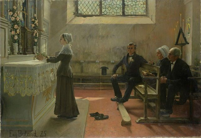 Offering to the Virgin the Day After the Wedding Jean Eugène Buland, 1885