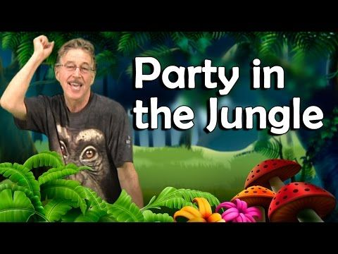 Fun phonemic awareness song, Party In The Jungle by Jack Hartmann - YouTube
