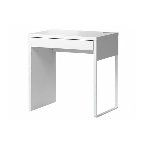Ikea MICKE single desk $49 (MICKE filing cabinet is same height and could go beside it to create a longer working desk top)