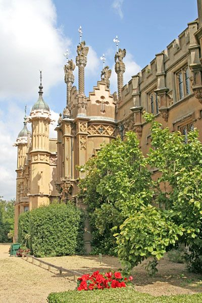 Knebworth House, Hertfordshire, England, home of the Lytton family since 1490