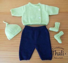 Ensemble tricot pour bébé prématuré