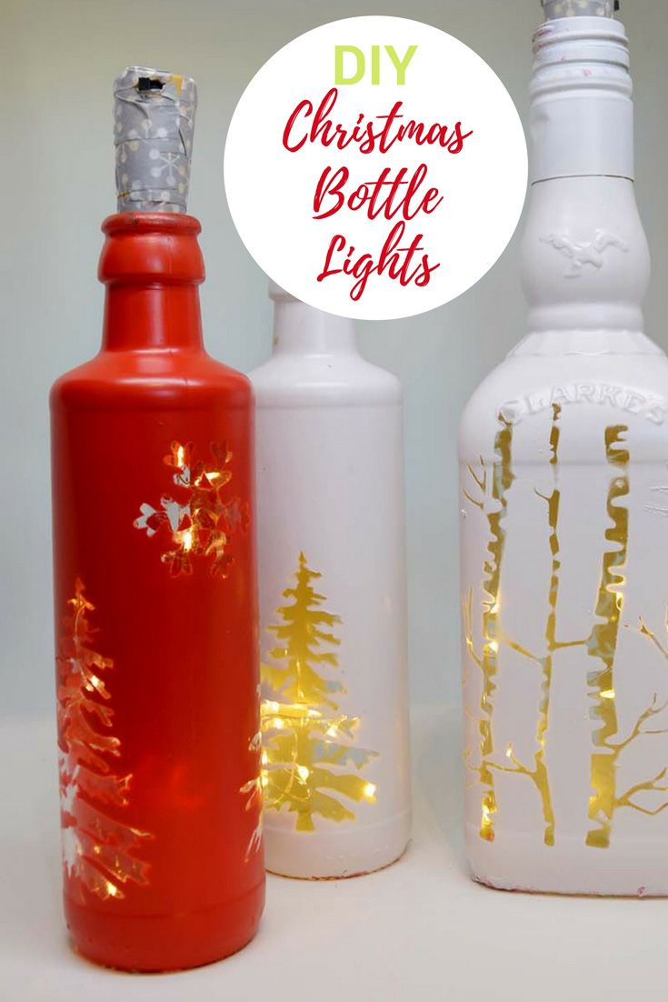 Easy Christmas Bottle Lights To Illuminate Your Home Christmas Lights Bottle Christmas Wine Bottles Bottle Lights