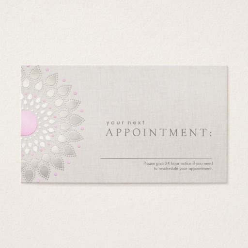 11 best lotus flower business cards images on pinterest lotus pink lotus salon and spa appointment card colourmoves