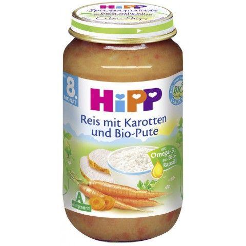 Hipp Bio Reis mit Karotten und Bio-Pute ab dem 8. Monat