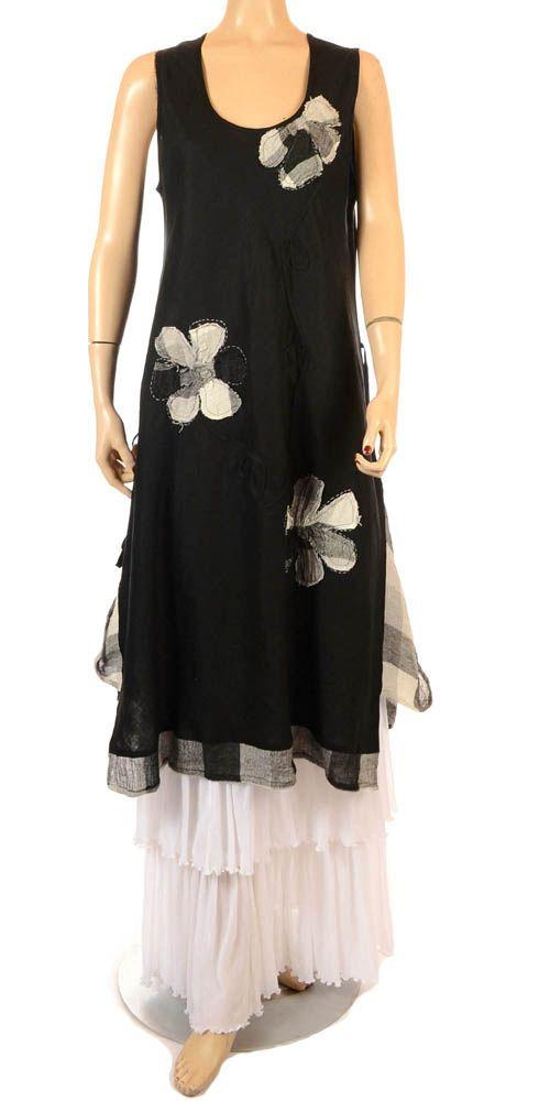 Ana Nonza Beautiful Black & Check Linen Tunic/Dress - Summer 2013