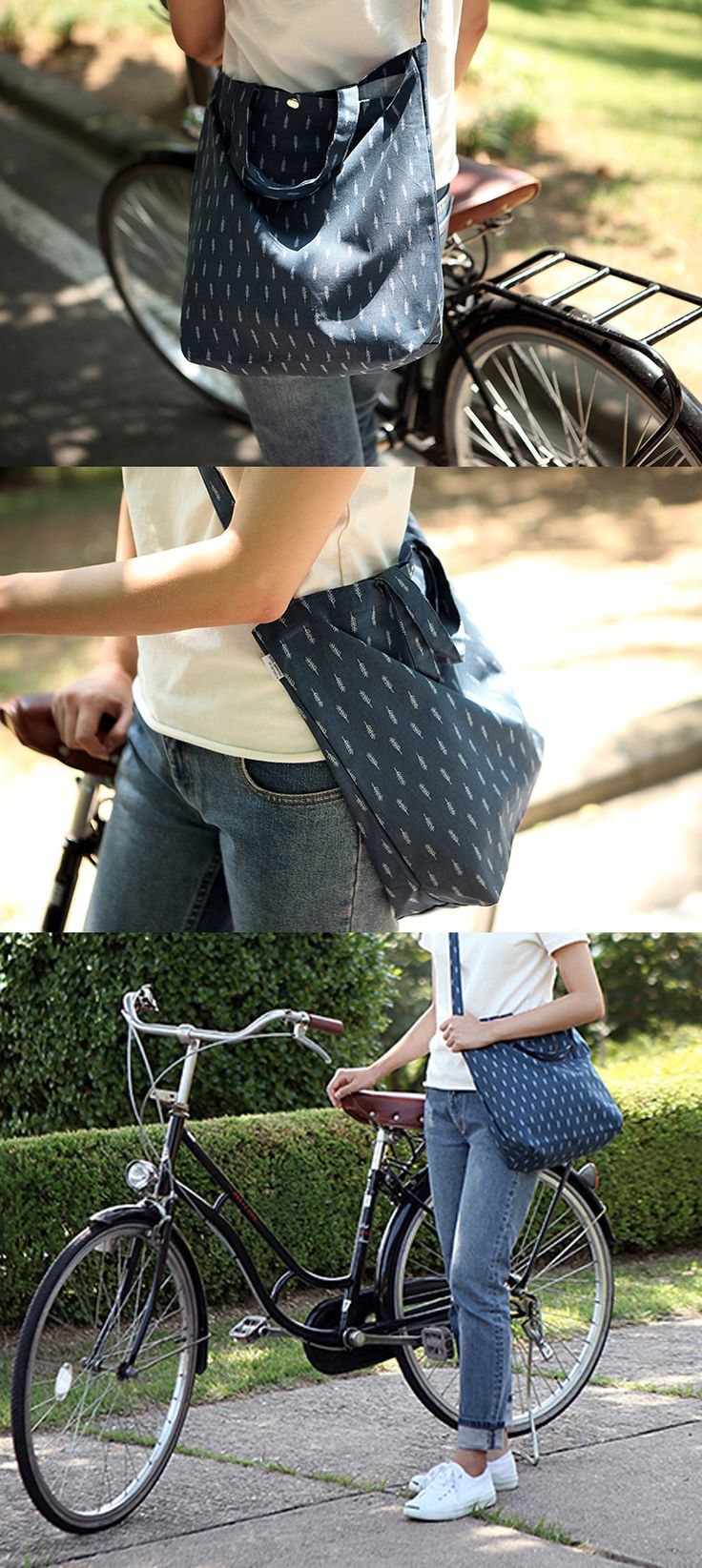 Grocery shopping? Going on a walk? On your way to school? Heading out for a short trip? Take the Dailylike Pattern Messenger Bag with you for the journey ahead!