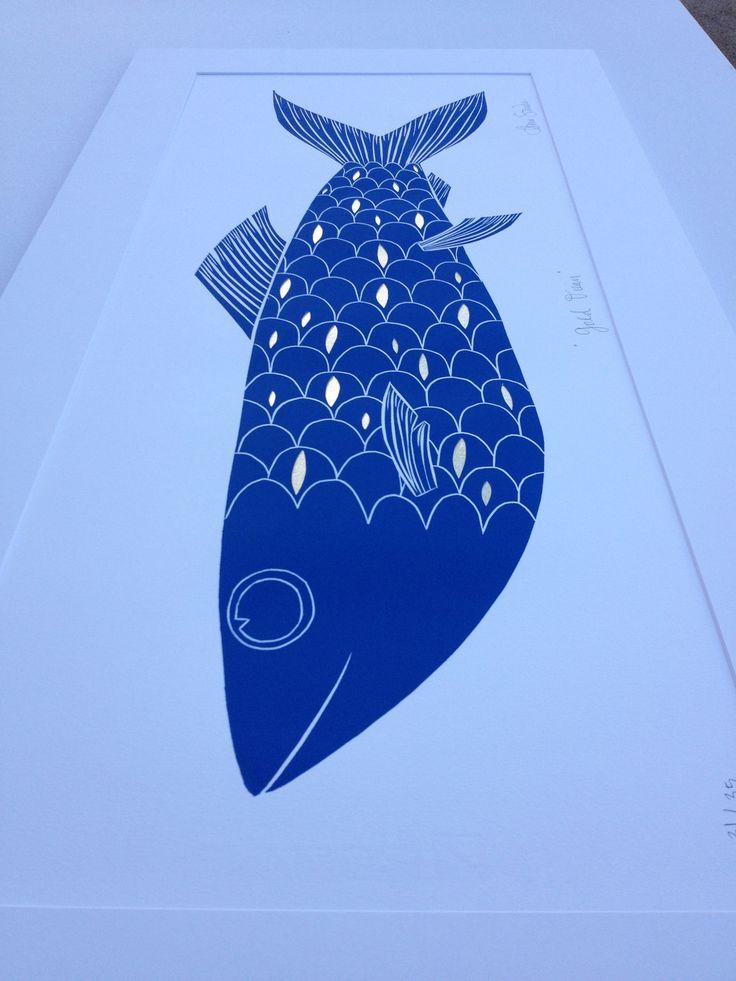 Gold Ocean, Annie Smits Sandano print www.anniesmitssandano.com