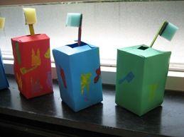 tandenborstel met beker, thema tandarts met kleuters / dental theme preschool