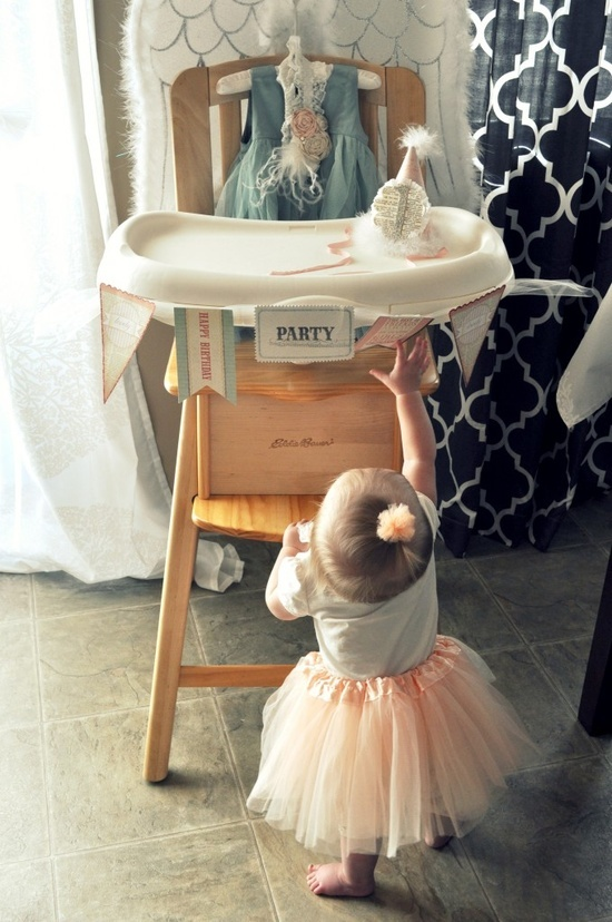 Vintage baby birthday party