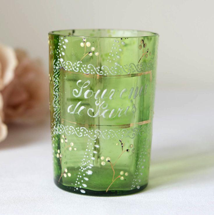 Antique Souvenir de Paris Handpainted Cup