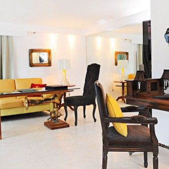 Lounge room, Noah's villa with private pool & beach, Kivotos Hotel, Mykonos.   www.kivotosmykonos.com
