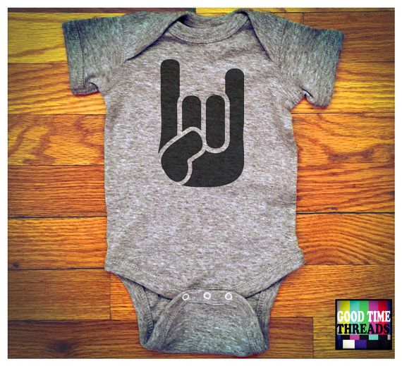 Hey, I found this really awesome Etsy listing at https://www.etsy.com/listing/265968404/cool-baby-onesie-rock-n-roll-horns-baby