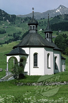 Country church in the Swiss Alps, Switzerland