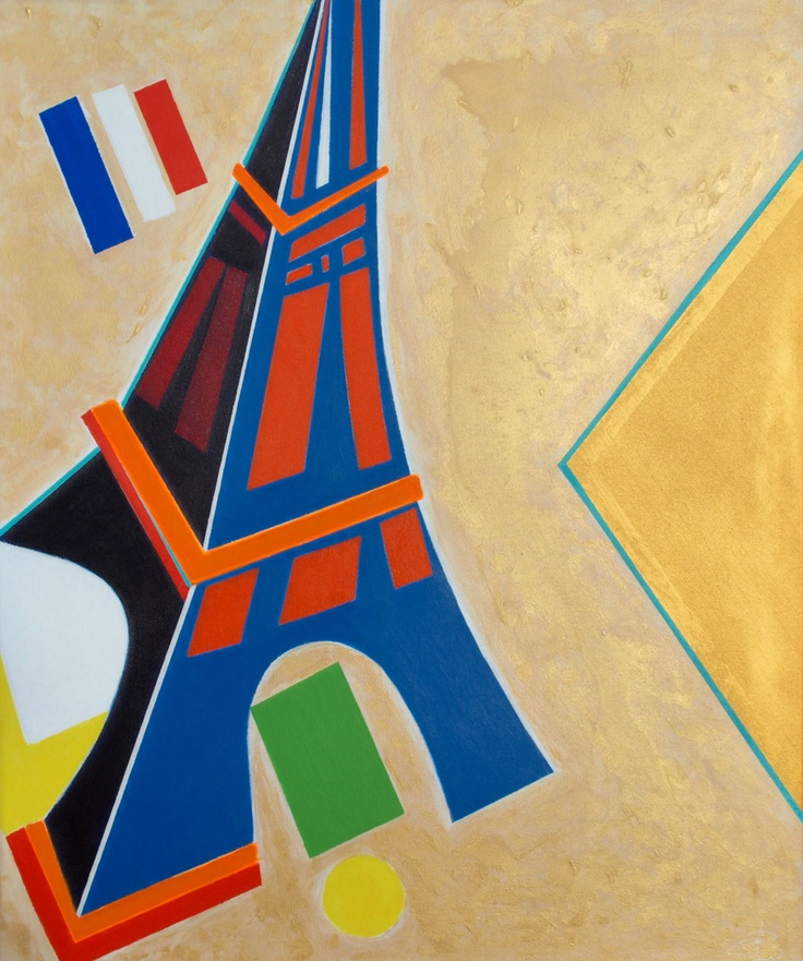'We'll Always Have Delaunay' (2013) ~ 30in x 36in ~ acrylic on canvas ~ Chris Billington