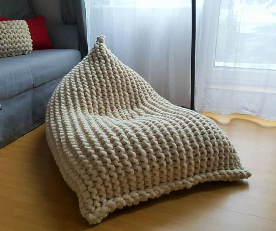 Fine Chunky Merino Undyed Natural Wool Xl Knitted Bean Bag Ncnpc Chair Design For Home Ncnpcorg