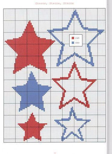 Stars cross stitch.