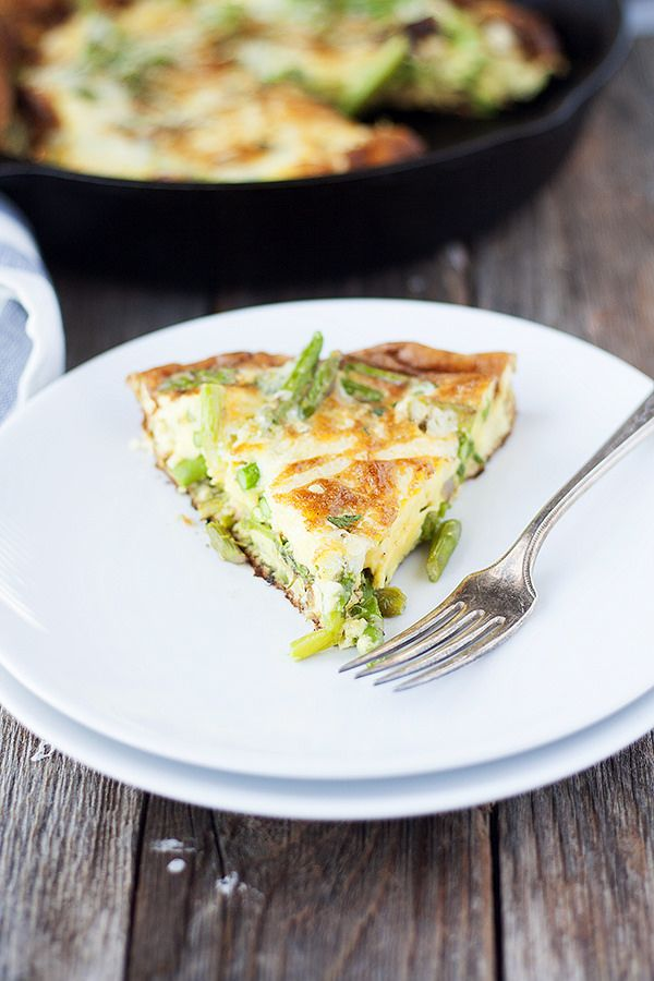 Check out Asparagus frittata. It's so easy to make ...