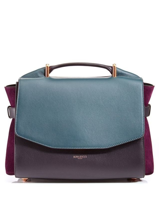 Nina Ricci Woman Ruffled Suede Clutch Violet Size Nina Ricci Wholesale Price For Sale Discount With Paypal TWMsQcq