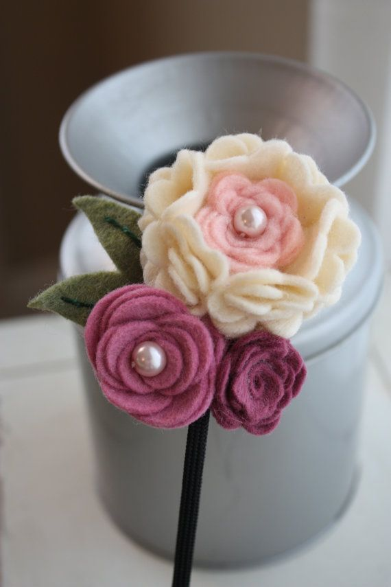 Handmade Felt Flower Headband Ruffles and by BlessingLaneBoutique, $12.00