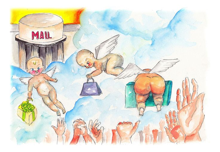 #mall #illustration #watercolor #angels