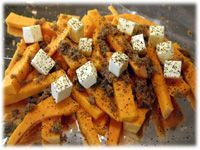 butternut squash with butter on the grill