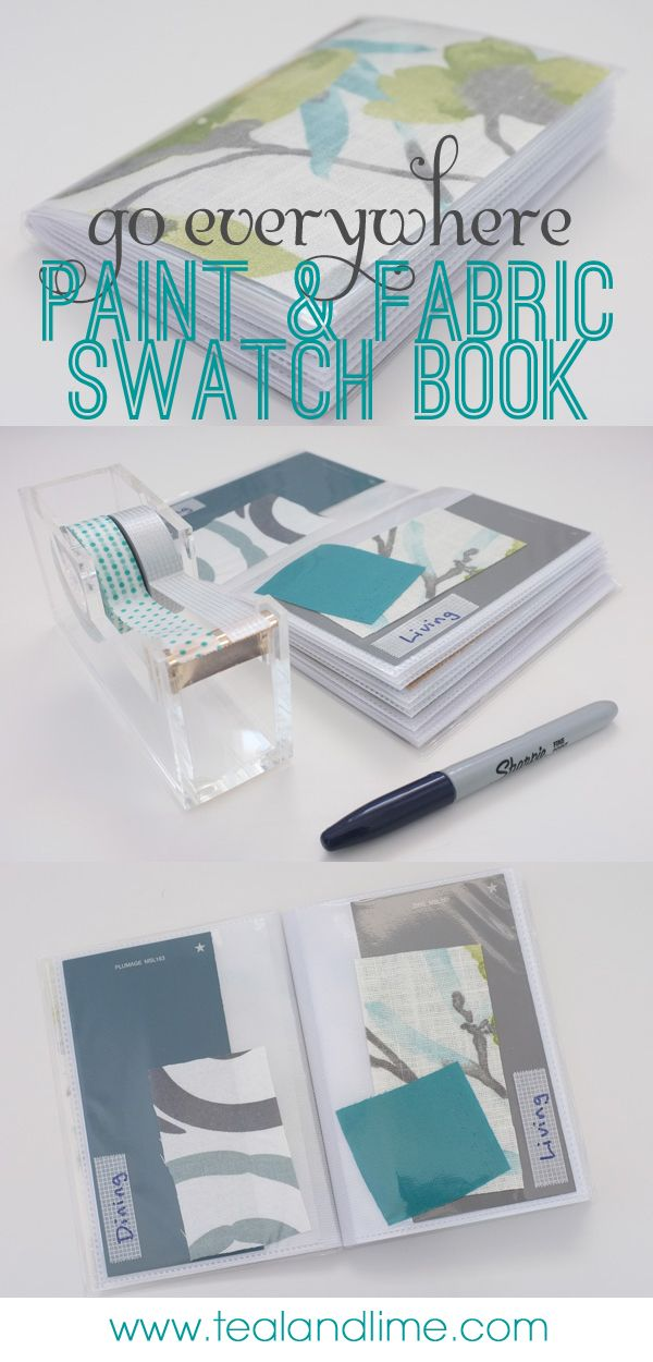Make your own home swatch book (with fabrics and paint colors) out of an inexpensive, cheap photo album. Carry with you when you go shopping!