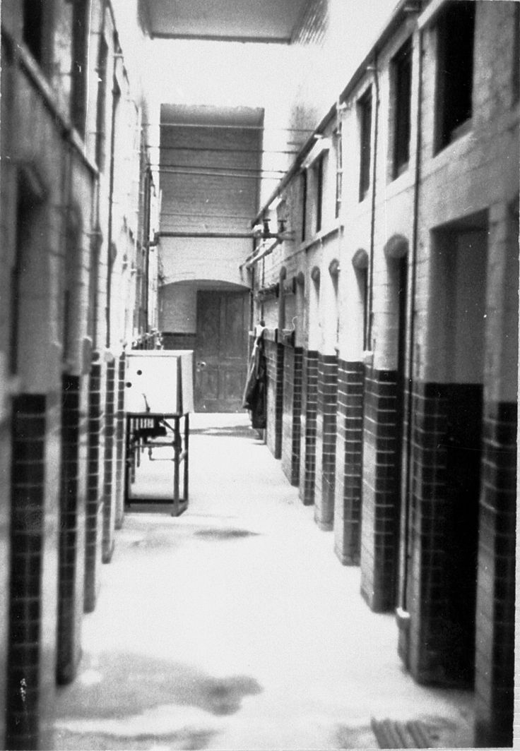 During its years of Hospital use (1962-1996) the Spike had many uses including document storage, Telephone Frame Room, A/V Training Suite, Maintenance offices and stores.  This shot is circa late 1970s.